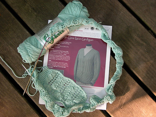 Fir Cone Lace Cardigan