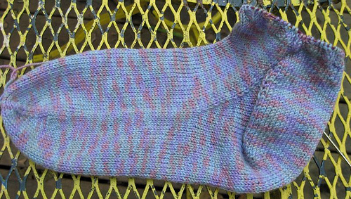 Basic Toe Up socks with gussets